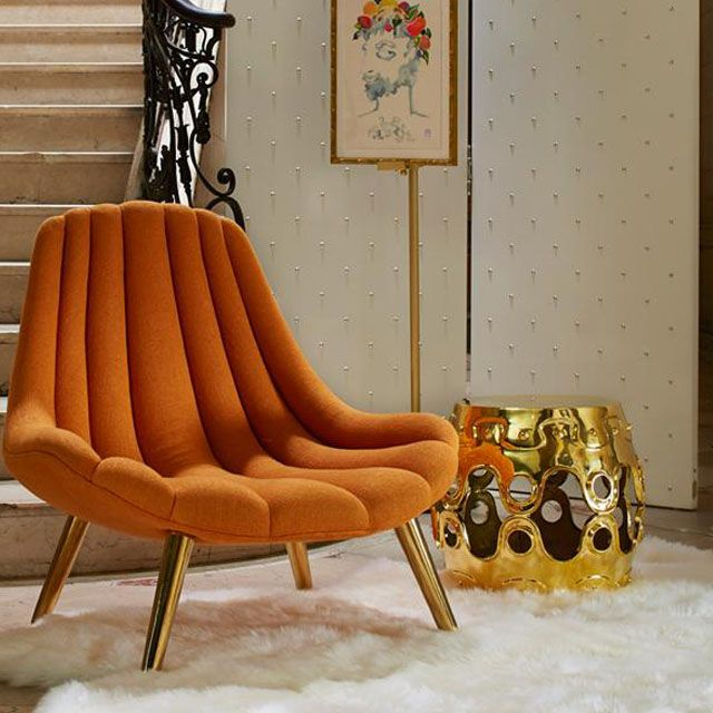 Brigitte Chair By Jonathan Adler Tufted Lines Accentuate The Sculptural Organic Form Of