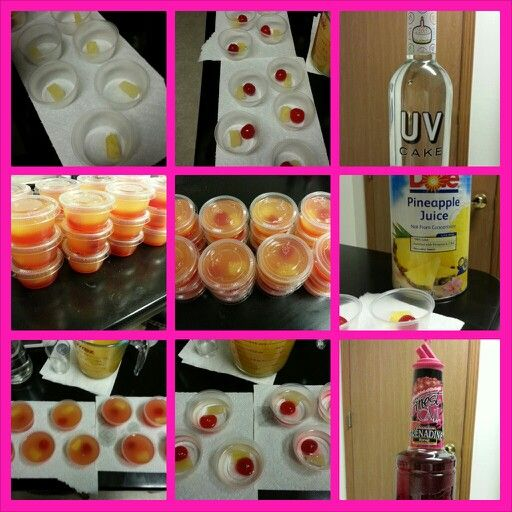Pineapple Upside Down Cake Shooters Shots Perfect For Parties
