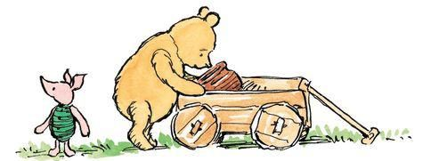 Pooh kept looking at the cart and the pot of honey.