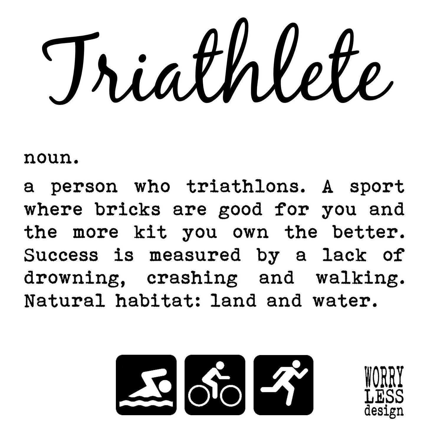 Triathlon Gifts Triathlete Definition Large Framed Print Etsy Triathlon Gift Triathlon Triathlon Quotes