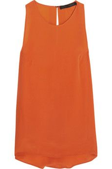 Victoria Beckham Denim Silk-crepe top | THE OUTNET