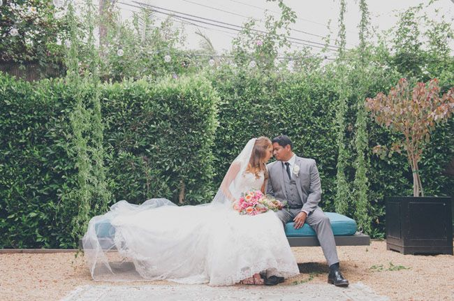 Gorgeous Los Angeles Industrial Wedding With Darling DIY Details See More On Green Shoes