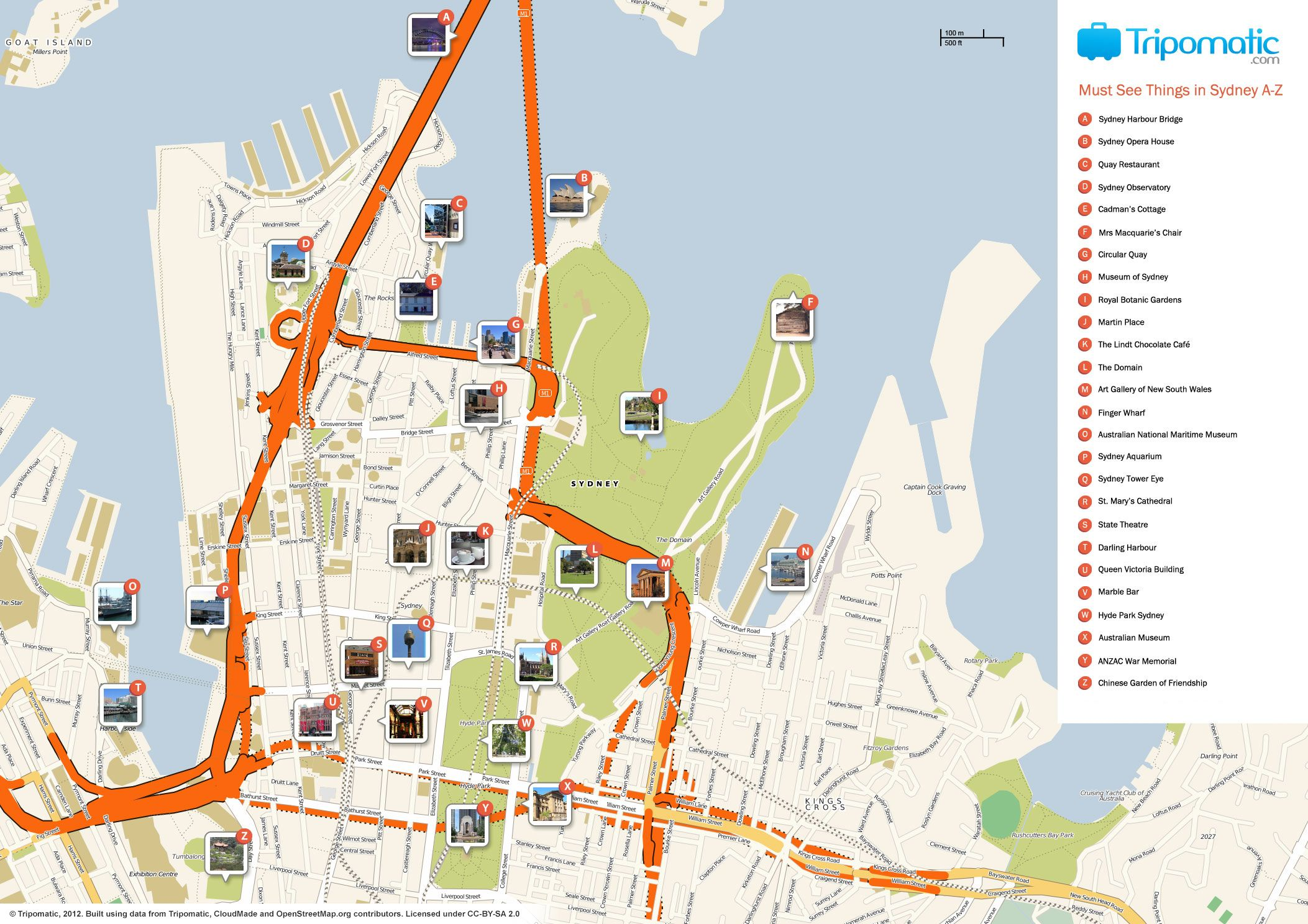 sydney cbd map tourist sydney maps top tourist attractions free