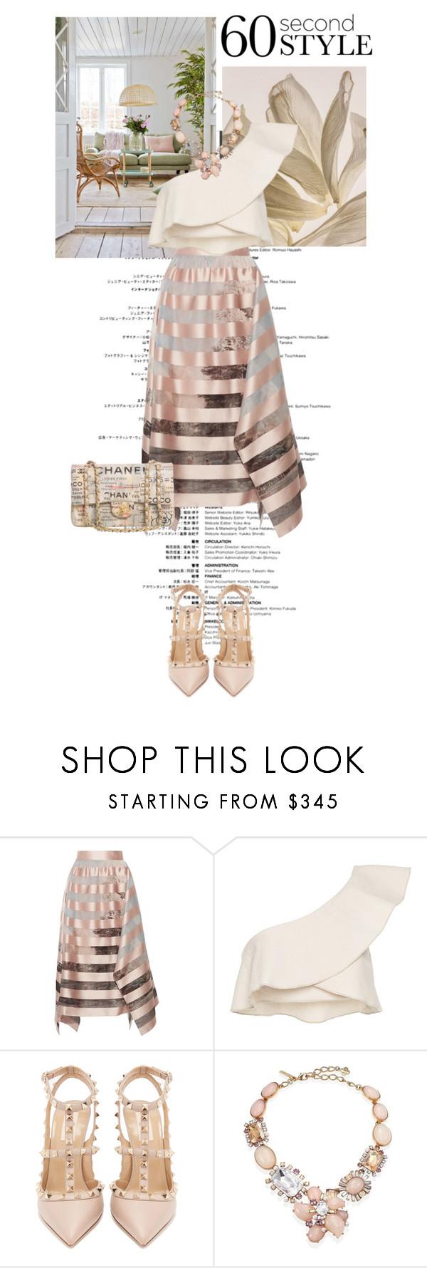 """Asymmetric Skirts pink"" by gizaboudib on Polyvore featuring moda, Fendi, Isabel Marant, Valentino, Oscar de la Renta, Chanel, asymmetricskirts y 60secondstyle"