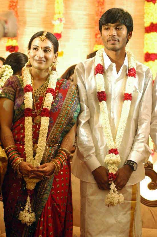 Dhanush Tamil Actor Marriage Photos Wife Name Pictures Album Marriage Photos Celebrity Weddings South Indian Bride