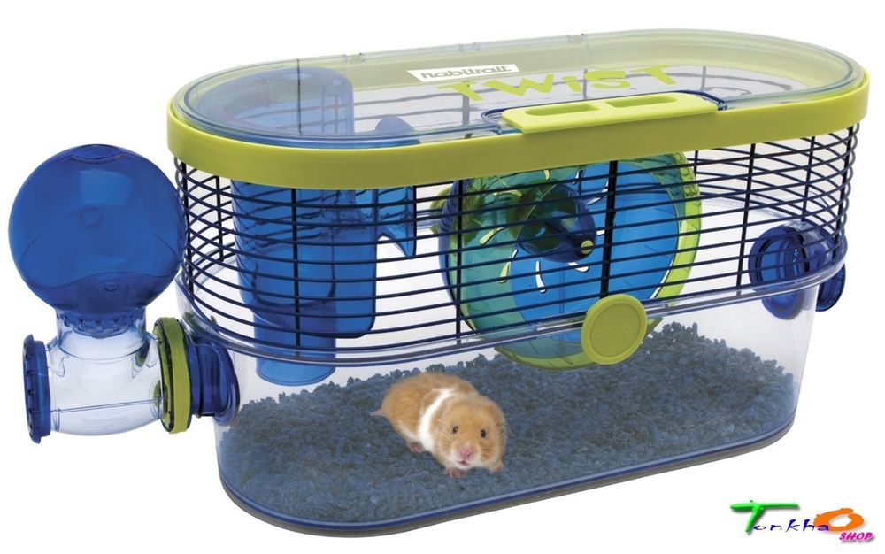 Hamster Small Pets Cages Habitat Transparent Plastic Clean Easy Habitrail Twist Cool Hamster Cages Small Pets Small Animal Cage