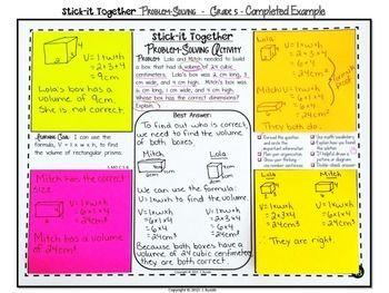 Math Problem Solving Collaborative Activity For Grade 5 Common Core Math Problem Solving Math For Middle School Math