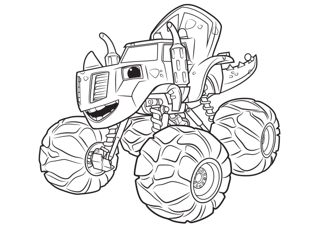 Coloring Zeg From Blaze And The Monster Machines Monster Truck Coloring Pages Monster Coloring Pages Coloring Books