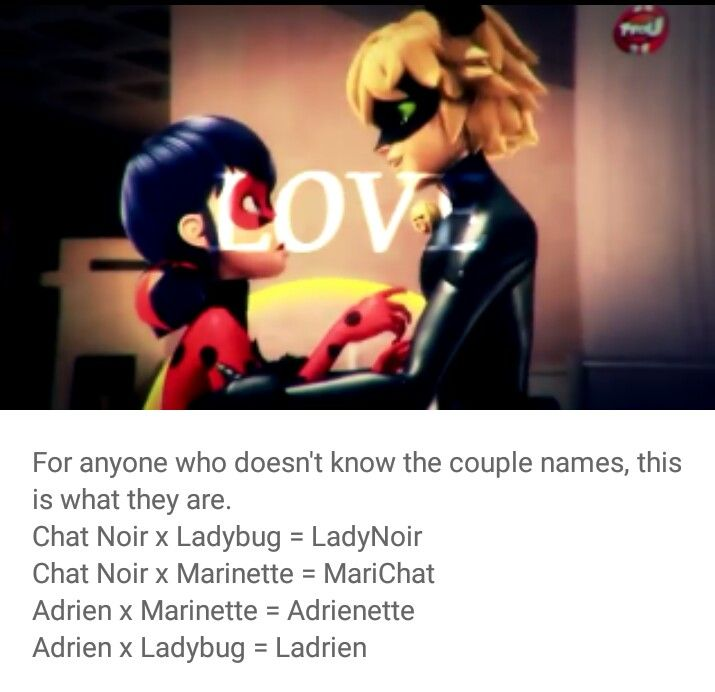 The Couple Names Chat Noir X Marinette Couple Names Miraculous Ladybug