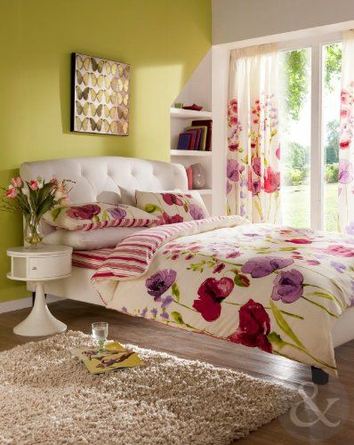 Best Floral Duvet Cover With Striped Reverse Luxury Cotton 640 x 480