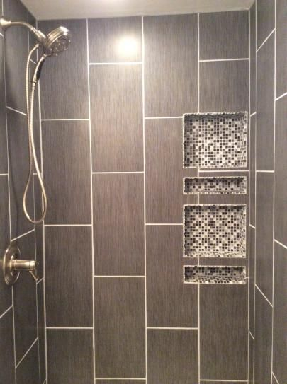 Ms International Metro Gris 12 In X 24 In Glazed Porcelain Floor And Wall Tile 16 Sq Ft Case Bathroom Remodel Shower Vertical Shower Tile Shower Remodel