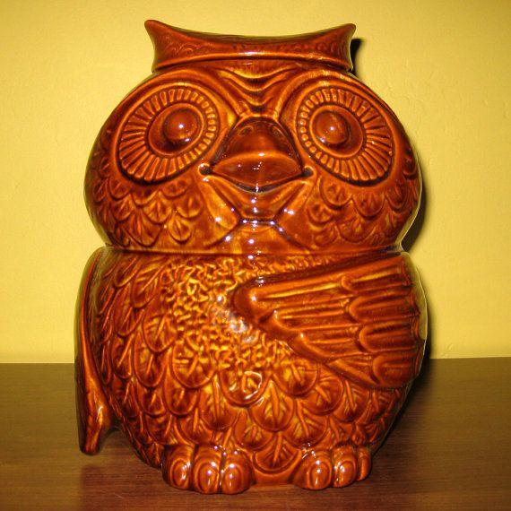 Rare Collectible Cookie Jars Vintage Owl Cookie Jar Mccoy Usa 405 Wise Old Owl Ceramic Cooki Cookie Jars Vintage Collectible Cookie Jars Owl Cookie Jar