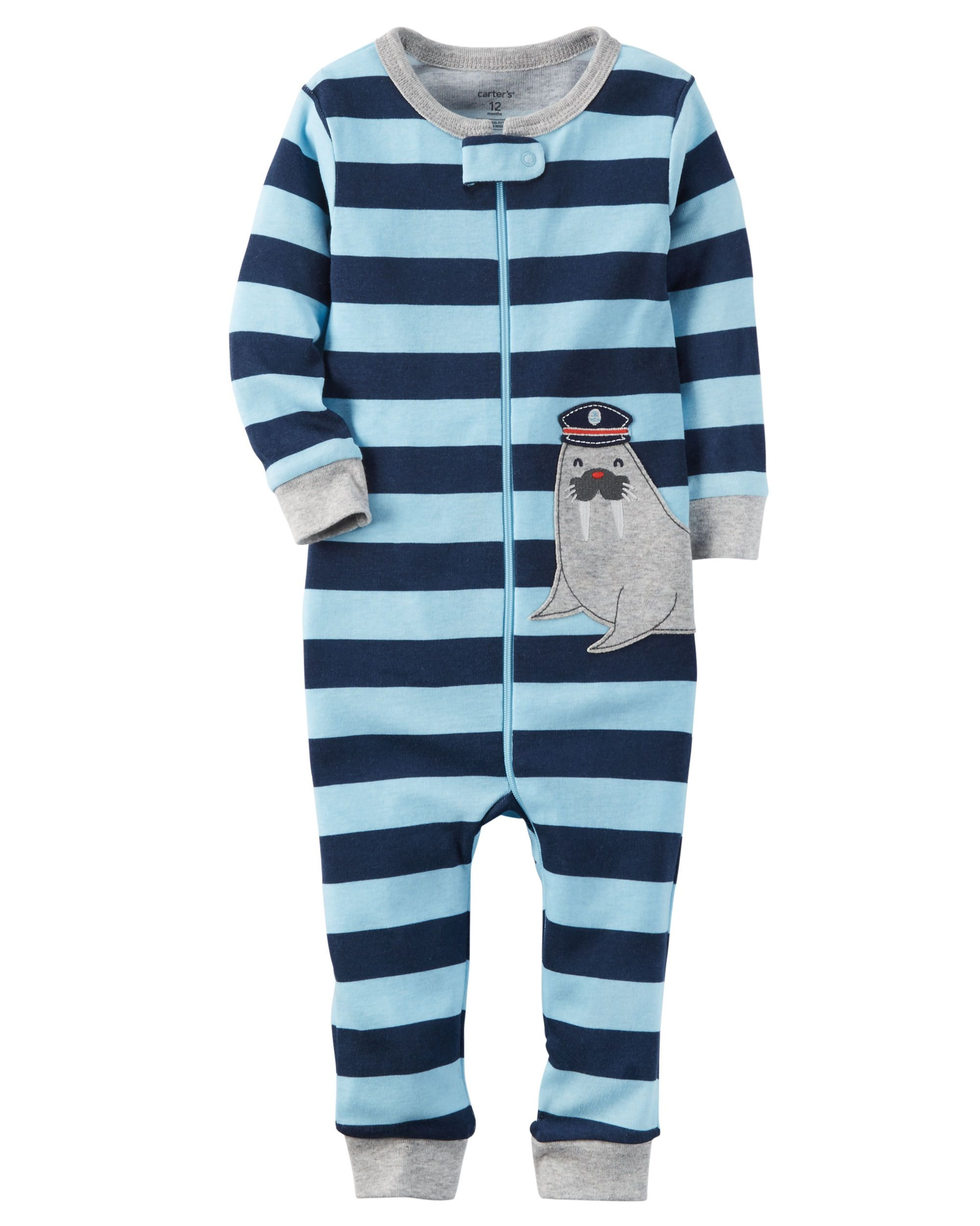 763f733d2 1-Piece Snug Fit Cotton Footless PJs