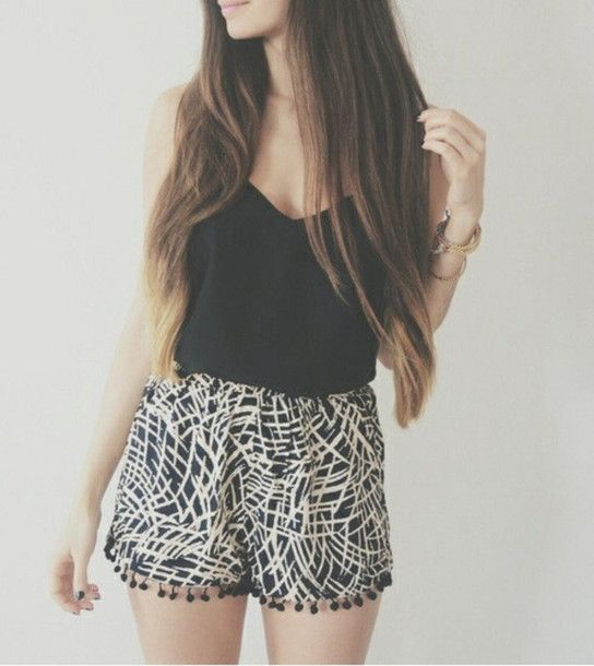 Elastic waistband flowy shorts. | Fashion/Clothing Inspiration ...