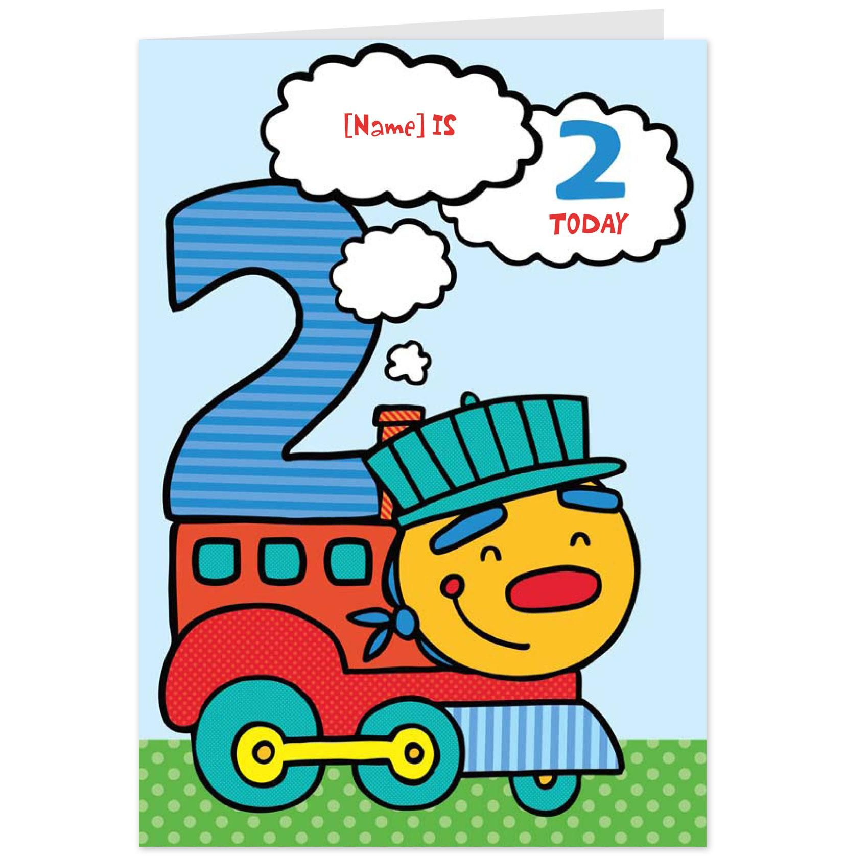 Second Birthday Boy Card with Toy TrainHallmark UK 2nd – Second Birthday Cards