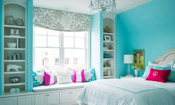 ▷ 1001+ designs stupéfiants pour une chambre turquoise   Chambres ...