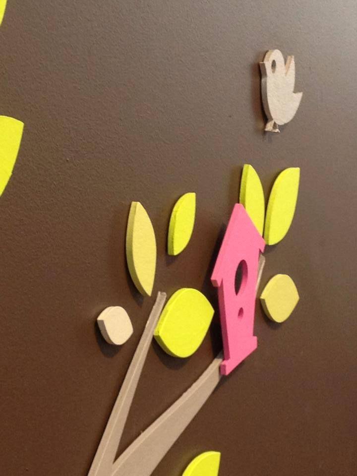 Mieux quu0027un stickers !!! Une décoration murale en relief à peindre - peindre sur papier vinyl