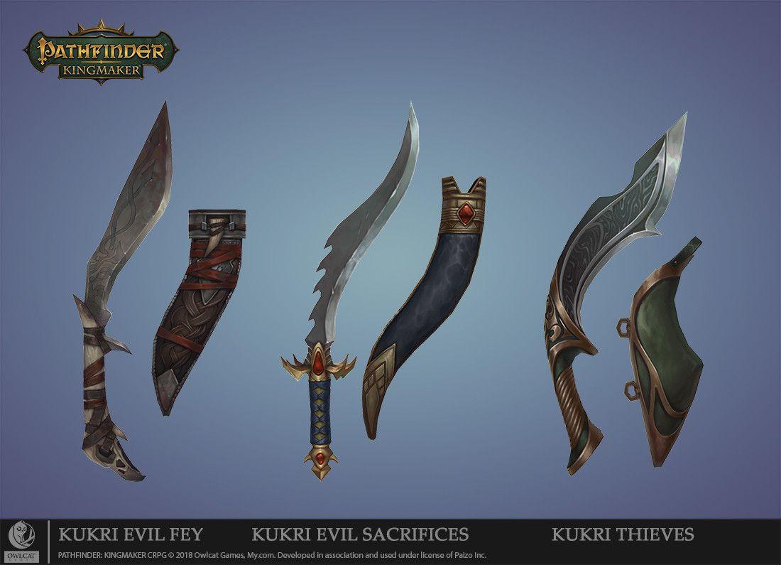 ArtStation - PATHFINDER: KINGMAKER Texturing weapons