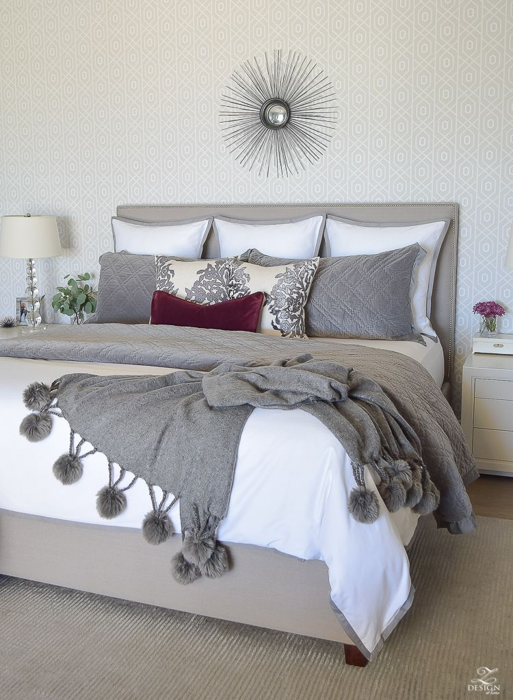 Fall Winter Master Bedroom Updates Zdesign At Home Burgundy