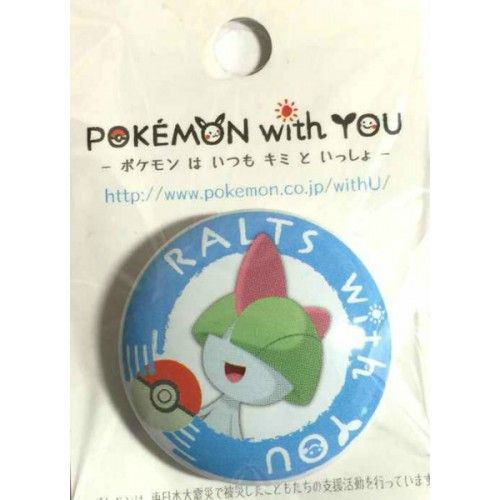 Pokemon Center 2014 Pokemon With You Ralts Tin Can Badge