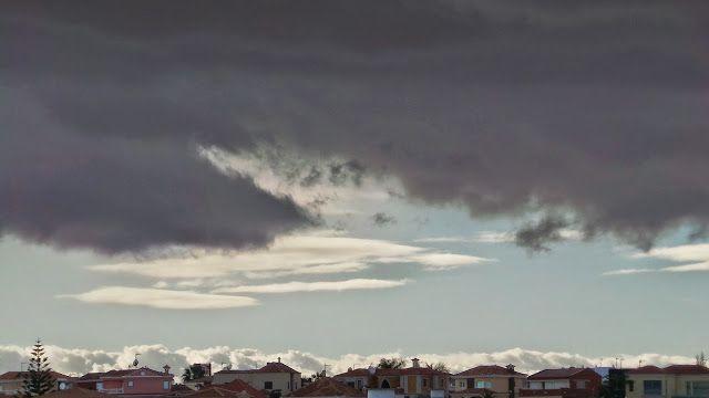 Desde las Islas Canarias  ..Fotografias  : No termina por llover en Maspalomas ...Gran Canari...