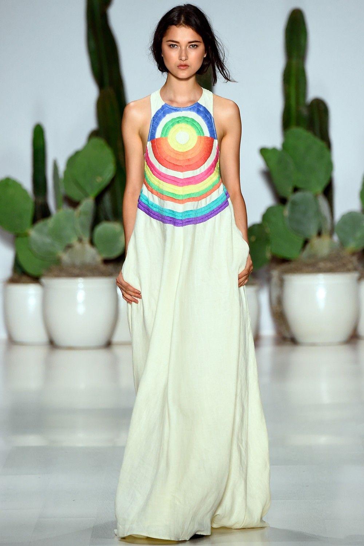 Mara Hoffman Embroidered Cutout Maxi Dress #rainbowswoon