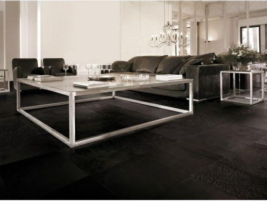 Fußboden aus Leder Fliesen \u2013schicker Bodenbelag für luxuriösen Touch - bodenfliesen wohnzimmer modern