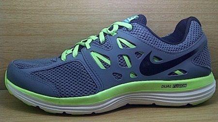 Kode Sepatu Nike Dual Fusion Lite Grey Green Ukuran Sepatu 42