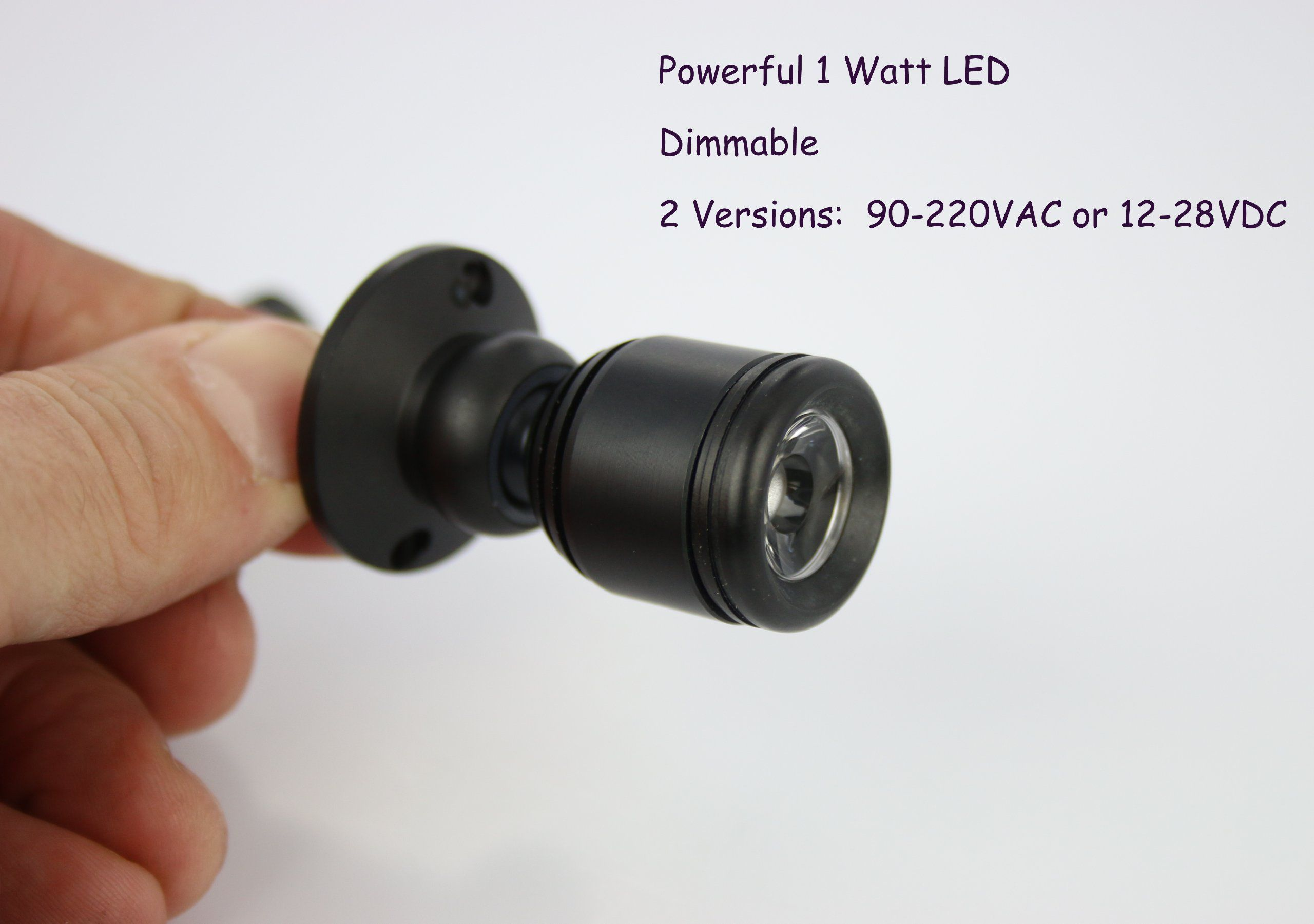 Micro Pivoting Led Spotlight 1 Watt High Power Dimmable Led Tiny Size Warm White Led Led Spotlight White Lead Power Led