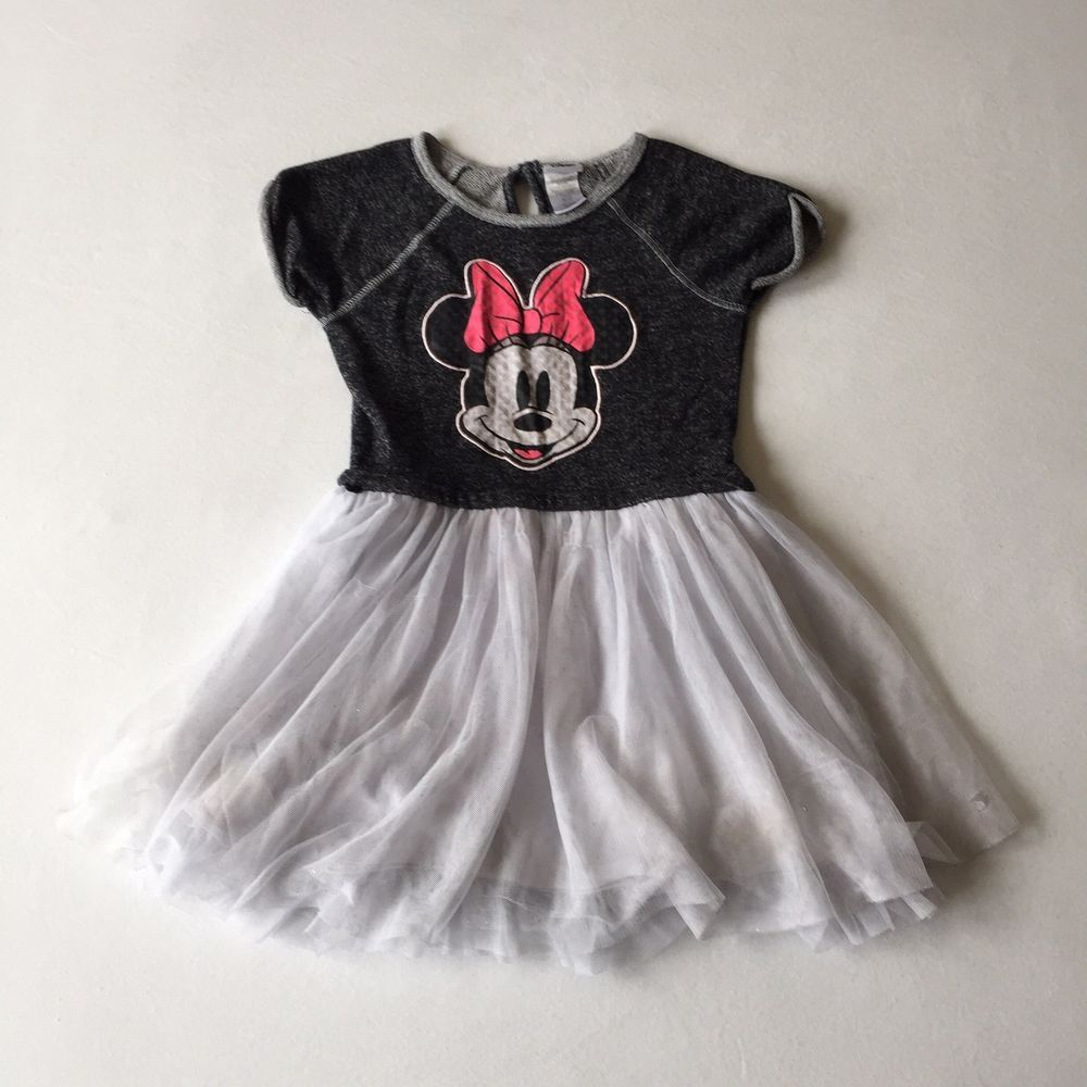 Disney Minnie Mouse Girls Youth Size 5t Dress Princess Short Sleeve Black White Fashion Clothing Shoes Acc One Piece Dress Clothes Girls Minnie Mouse Dress [ 1000 x 1000 Pixel ]