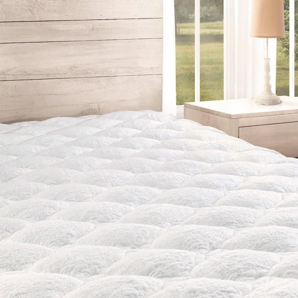 Quilted Mattress Pad Cover Cooling Fluffy Soft Topper Upto 21 Inch