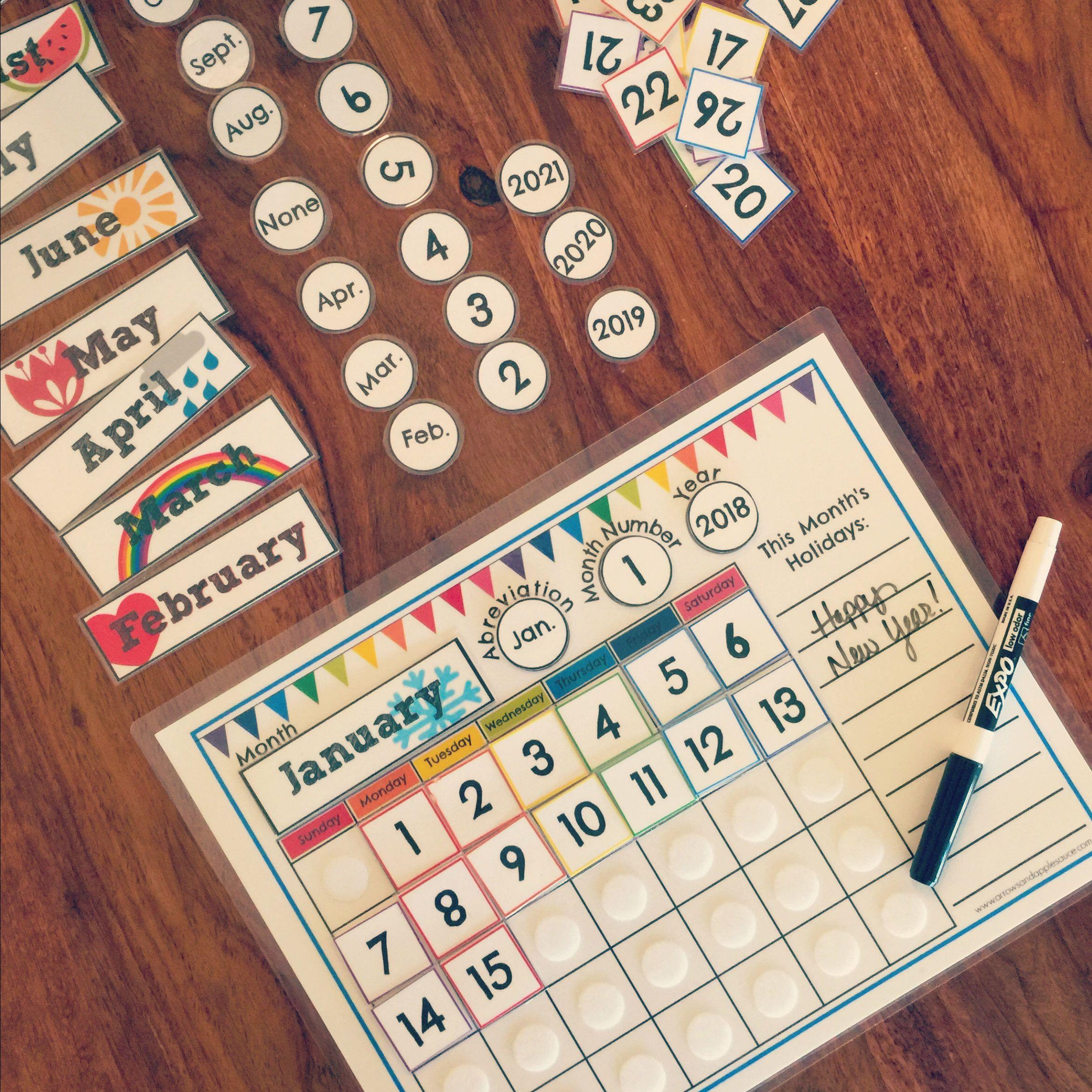 Perpetual Calendar Circle Time Printable Classroom