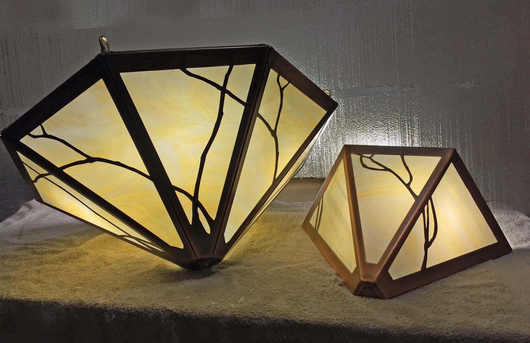 Workbench photo - James Mattson Coppercraft art nouveau chandelier ...