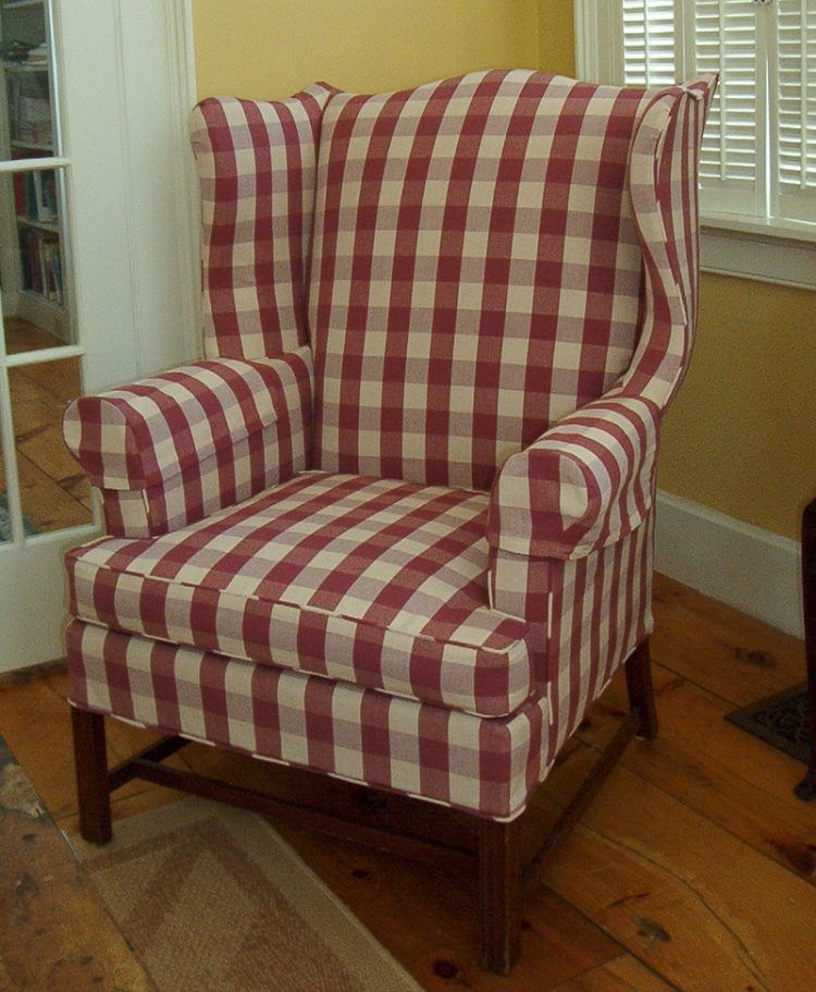 Red White Buffalo Upholstered Corner Chair Plaid S My