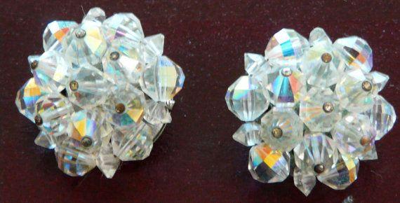 1950's Aurora Borealis Iridescent Crystal by VintageMadLady, $11.97