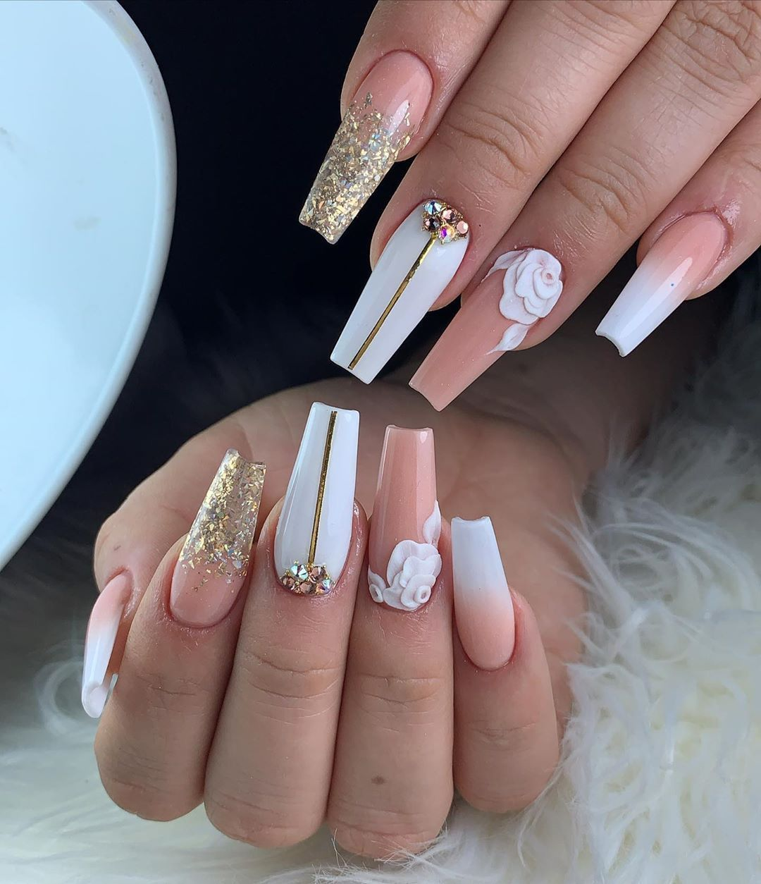 415 Me Gusta 10 Comentarios Unas Angee Unas Angee En Instagram In 2020 Nail Art Courses Diamond Nail Art Nail Art Games