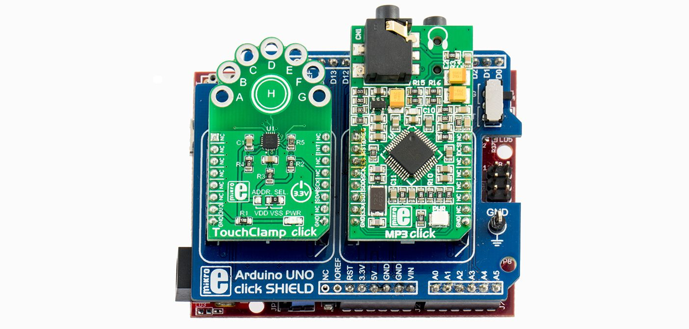 chipKIT: TouchClamp click drum machine   Arduino   Drum