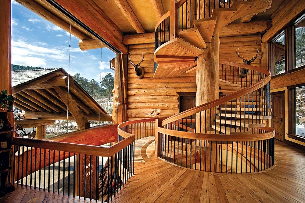 Delightful A Majestic Log Home Built With Big Logs