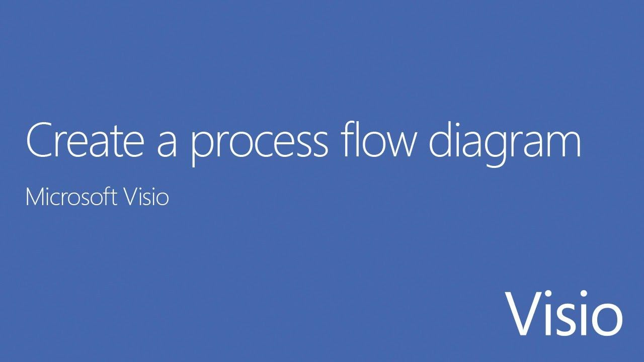 microsoft visio tutorial how to create a process flow diagram [ 1280 x 720 Pixel ]