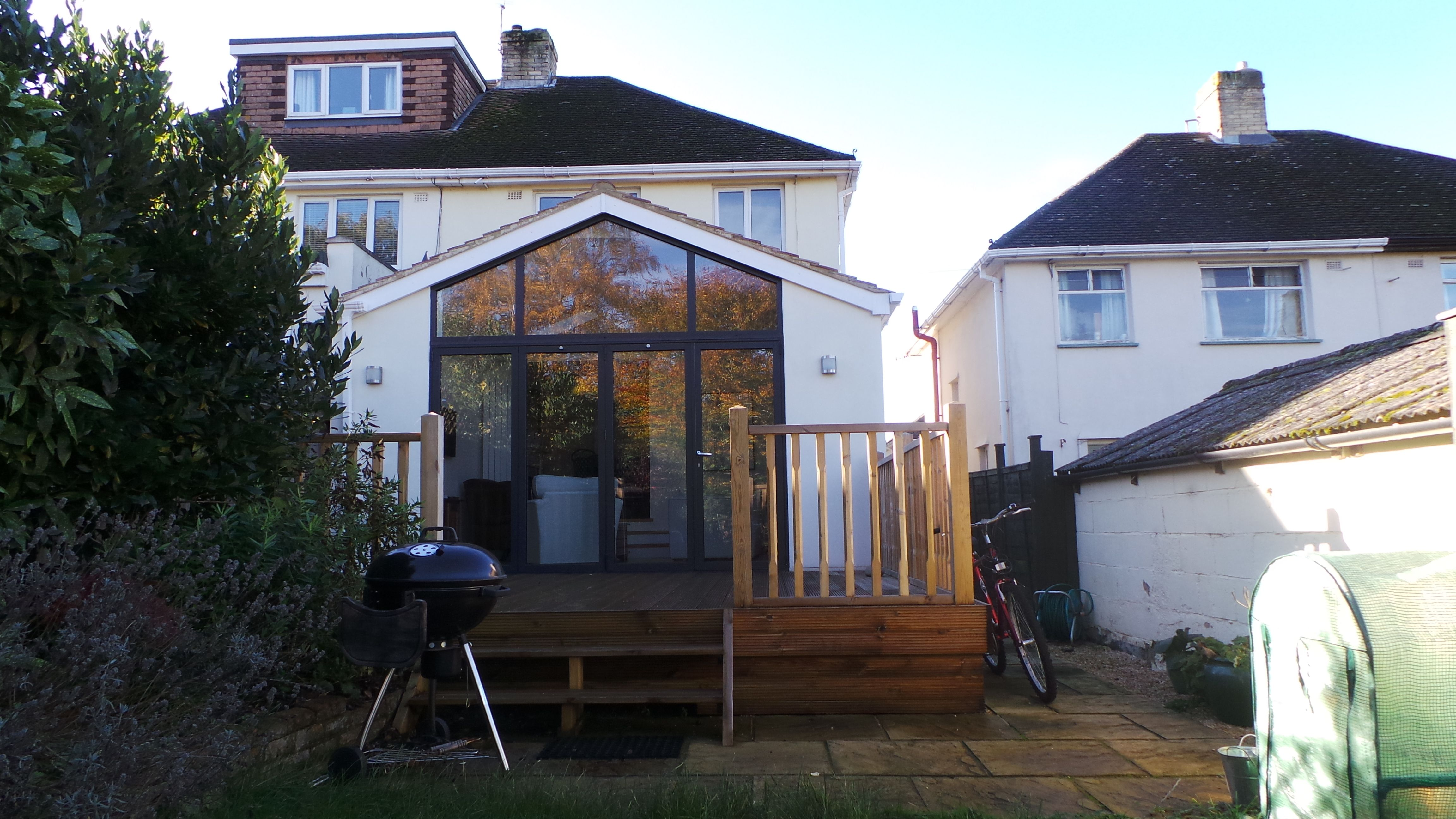 Single Storey Rear Extension With Fully Glazed Gable