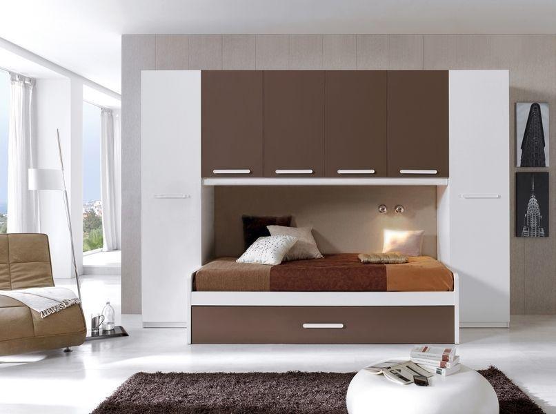Dormitorio Juvenil Cama Con Cajon Inferior Placard (mj-01 ...