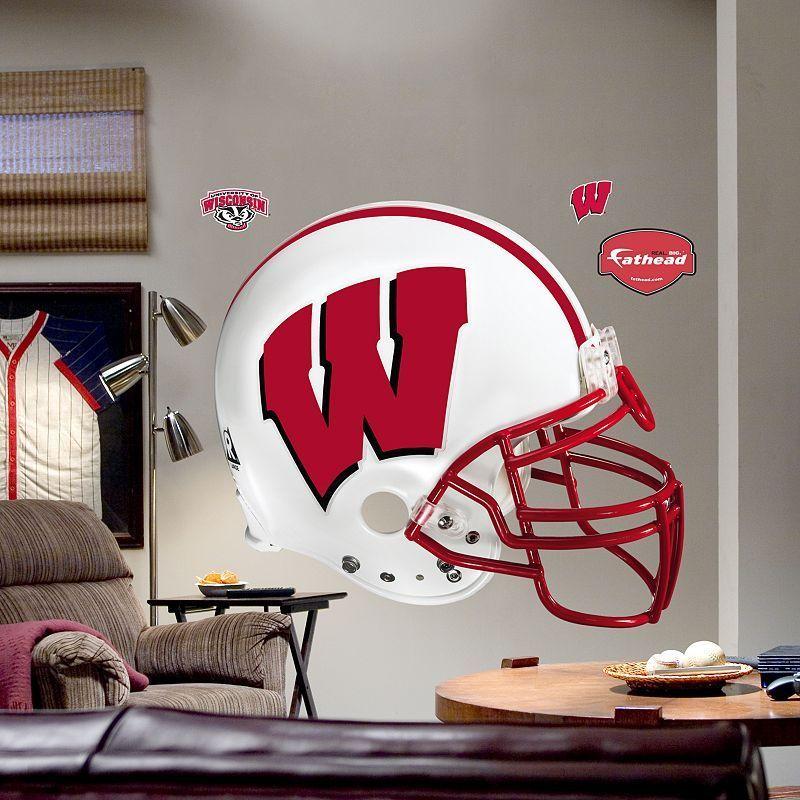 Fathead University of Wisconsin Badgers Helmet Wall Decal, Multicolor