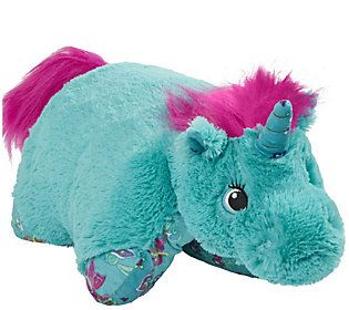 Pillow Pets Colorful Teal Unicorn