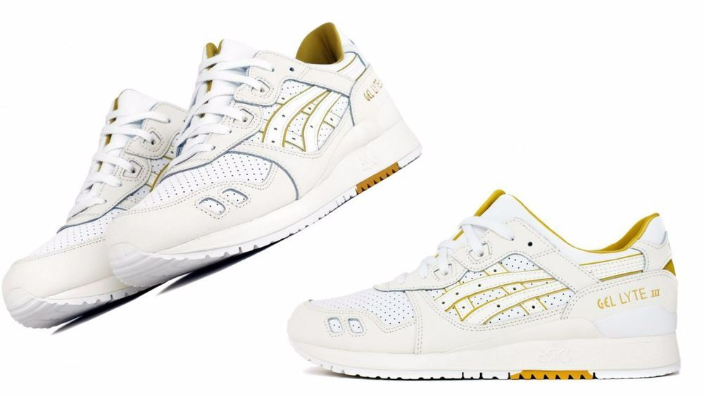 "Men/'s Asics Gel Lyte III /""White//Cream Athletic Fashion Casual Sneaker H7L3L 0100"