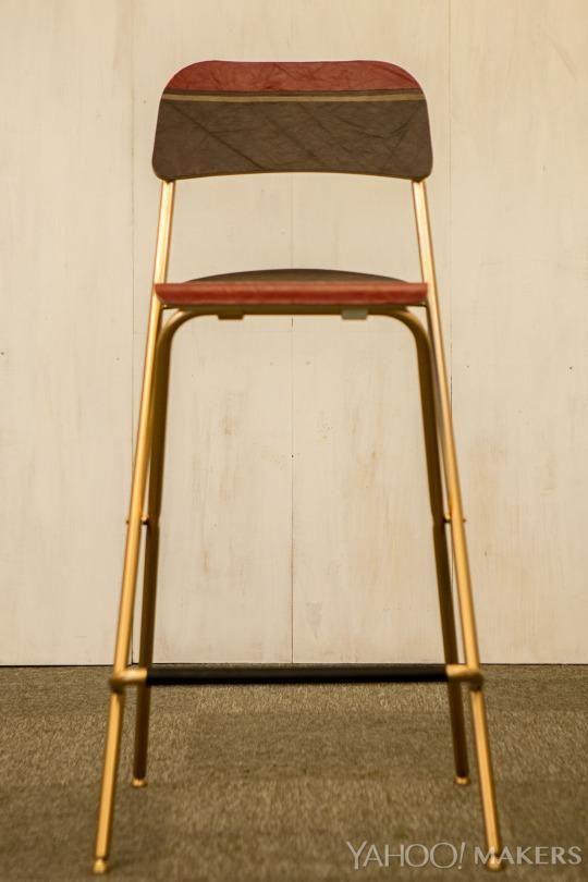 Fantastic Turn A Simple Ikea Stool Into A Wow Worthy Designer Perch Machost Co Dining Chair Design Ideas Machostcouk