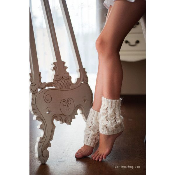 Hand Knitted Lace Mohair Leg Warmers Boot Cuffs Boot Toppers Fashion... (34 CAD) ❤ liked on Polyvore featuring intimates, hosiery, grey, leg warmers, women's clothing, boot cuff leg warmers, sexy leg warmers, sexy hosiery, grey leg warmers and ballerina leg warmers
