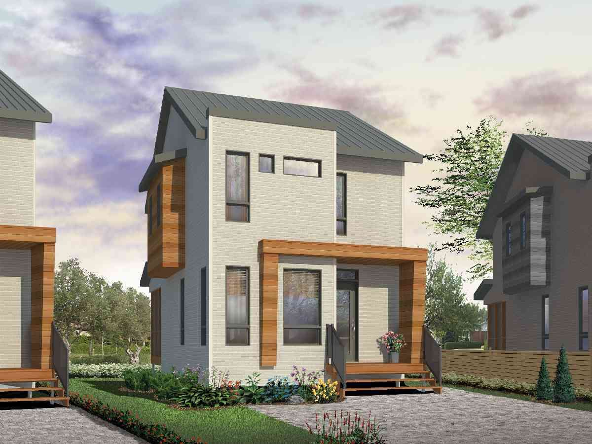 House Plan 22396DR 3 Bedroom Contemporary for