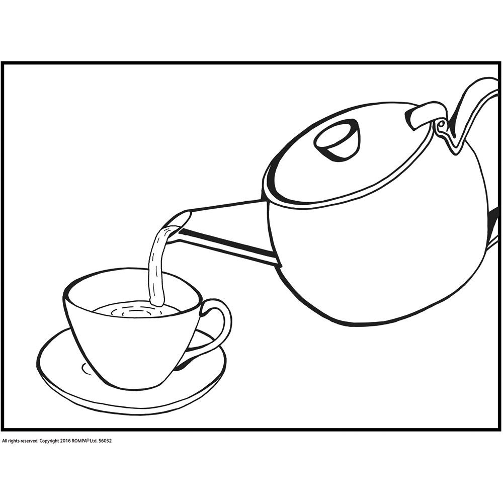 Simple Colouring & Sequencing - Time for Tea | Color ...