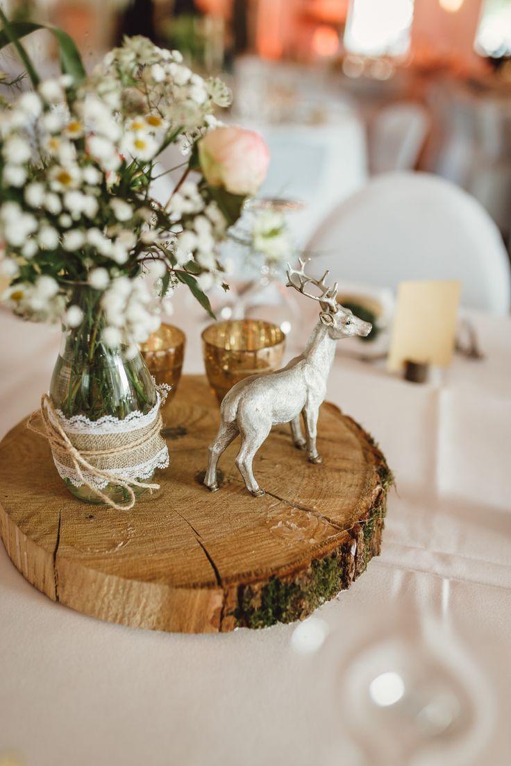 Rustikale DIY Hochzeit mit Wald und Hirschmotiv   Hochzeitsblog The Little Wedding Corner – Wood & Greenery – Hochzeit