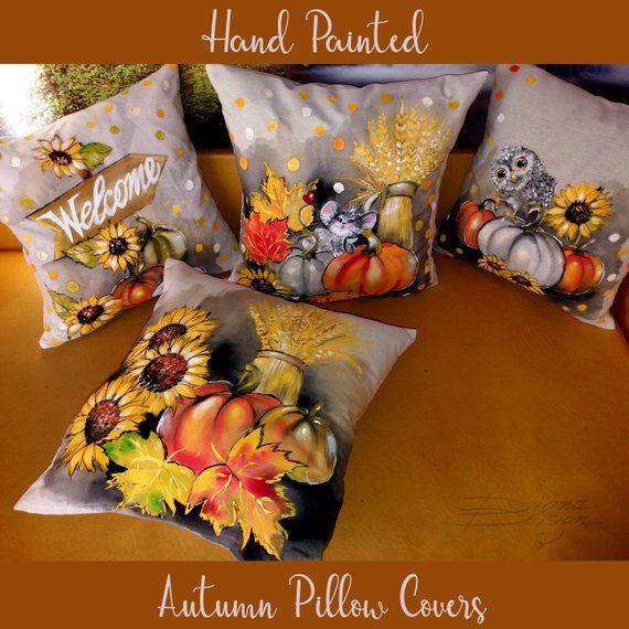 Pumpkin Velvet Throw Pillow Cover in